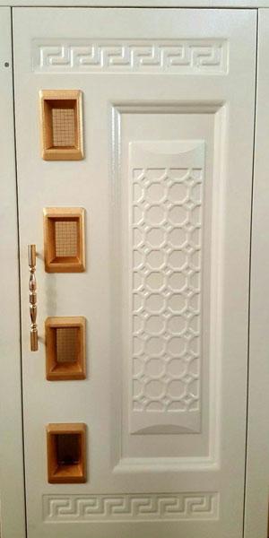 درب لولایی آسانسور رامان طرحدار مدل زنبوری