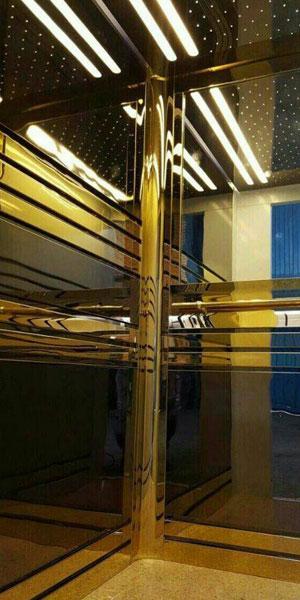 کابین شیشه ایی آسانسور رامان