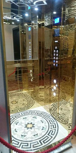 کابین آسانسور رامان مدل گوچی